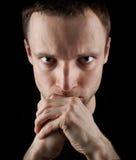 Serious young Caucasian man portrait Stock Photo