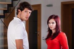 Serious young couple Stock Photos