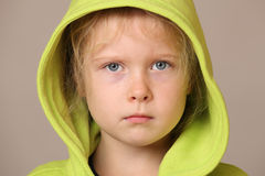 Serious young girl Royalty Free Stock Images