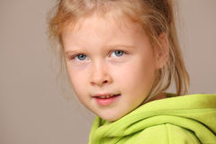Serious young girl Stock Image