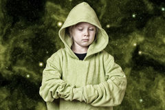 Serious young girl Stock Photography