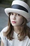 Serious young girl Stock Images