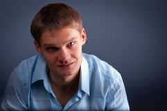 This is serious young man Royalty Free Stock Images