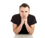 Serious young man Royalty Free Stock Images