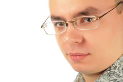 Serious young man in glasses Stock Photography