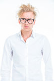 Serious young man looking away Royalty Free Stock Images