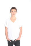 Serious young teenage boy Stock Photography
