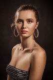 Serious young woman Royalty Free Stock Images