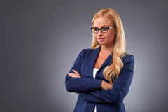 Serious young woman Stock Images