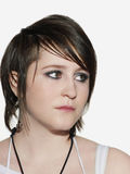 Serious Young Woman Looking Away Royalty Free Stock Photography
