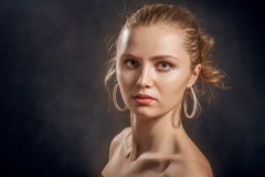 Serious young woman Stock Photos