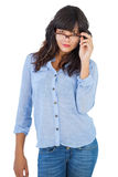 Serious young woman wearing glasses Royalty Free Stock Photo