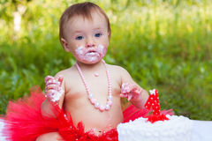 Seriously dirty toddler Stock Photography