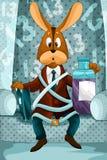 Serious rabbit character  illustration cartoon Stock Photos