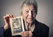 Seriuos老男人和妇女 库存照片
