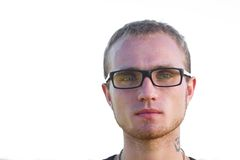 Seriuos young man in eyeglasses Stock Photo