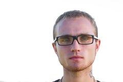 Seriuos young man in eyeglasses Stock Photo