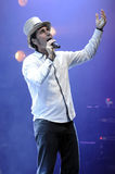 Serj Tankian performing live. Royalty Free Stock Photos