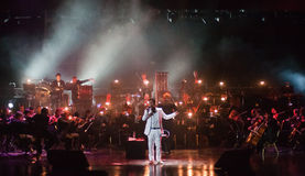 Serj Tankian with symphonic orchestra Globalis Stock Photos