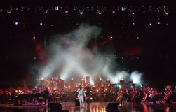 Serj Tankian with symphonic orchestra Globalis Royalty Free Stock Photography