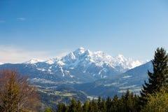 Serles Waldrastspitze au Tyrol Photographie stock libre de droits