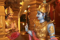 Sermão dos ?s de Lord Krishna Fotografia de Stock Royalty Free