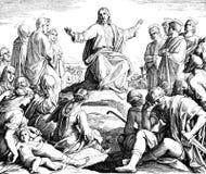 Sermón de la montaña Imagen de archivo libre de regalías
