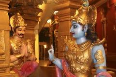 Sermón de los ?s de Lord Krishna Fotografía de archivo libre de regalías