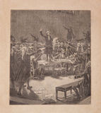 Serment du jeu de paume, 19th century old engravin. Serment du jeu de paume, french revolution June 20, 1789. 19th century old engraving Stock Photos