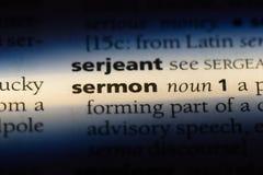 sermon fotografie stock