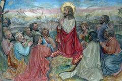 Sermon on the Mount. Church altar royalty free stock image
