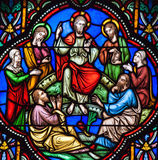 Sermon on the Mount Stained Glass Stock Image