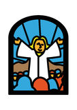 Sermon  window Royalty Free Stock Images