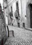 Sermoneta alley, Italy Royalty Free Stock Images