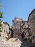 Sermoneta medieval village in Italy Royalty Free Stock Photography