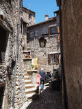 Sermoneta medieval village in Italy Stock Image
