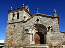 Sernancelhe church. Romanesque church of Sernacelhe, a historical village in Portugal royalty free stock photography