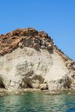Seronisos Island rocks Stock Image