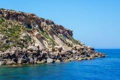 Seronisos Island rocks Royalty Free Stock Images