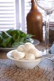 serowa świeża mozzarella Zdjęcie Stock