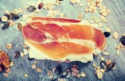 serowa karmowa baleronu wizerunku kanapka Obraz Stock
