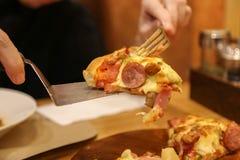 Serowa pizza, jedzenie dla Obrazy Royalty Free