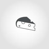 Serowa prosta ikona royalty ilustracja