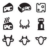 Serowe ikony royalty ilustracja