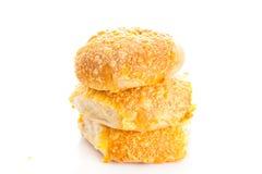 Serowego chlebowej rolki isolatedon tła białe babeczki Zdjęcie Stock