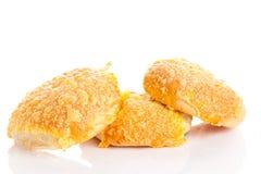 Serowego chlebowej rolki isolatedon tła piekarni biały produkt Obraz Stock