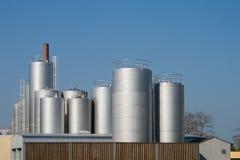serowej fabryki mleko Fotografia Royalty Free