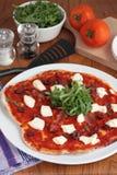 serowej pizzy prosciutto ricotta zdjęcia royalty free