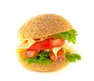 serowi mięsnej rolki kanapki pomidory Obraz Royalty Free