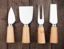 Serowi noże i rozwidlenie obraz stock